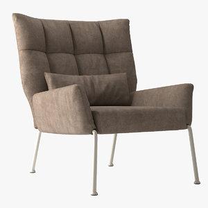 chair nikos ego bonaldo 3d model