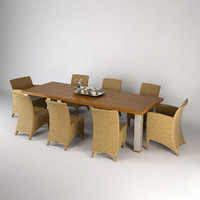 dining table chairs royal 3d max