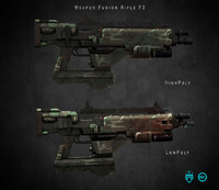 weapon fusion rifle f3 3d model