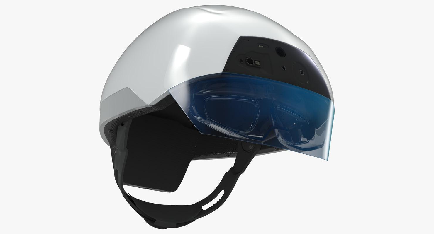 daqri smart helmet - 3d model