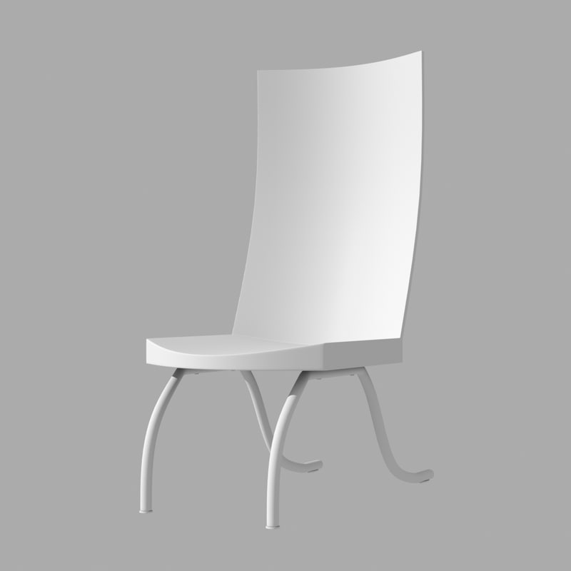 3d simple chair model