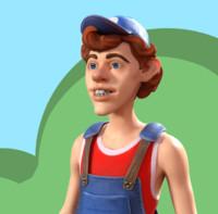 3d model character man