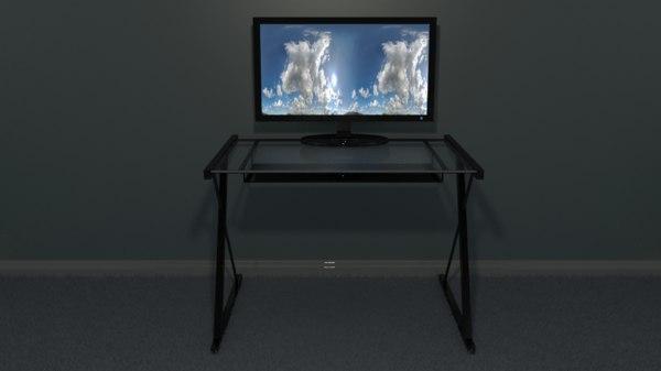 free 3ds mode glass computer desk