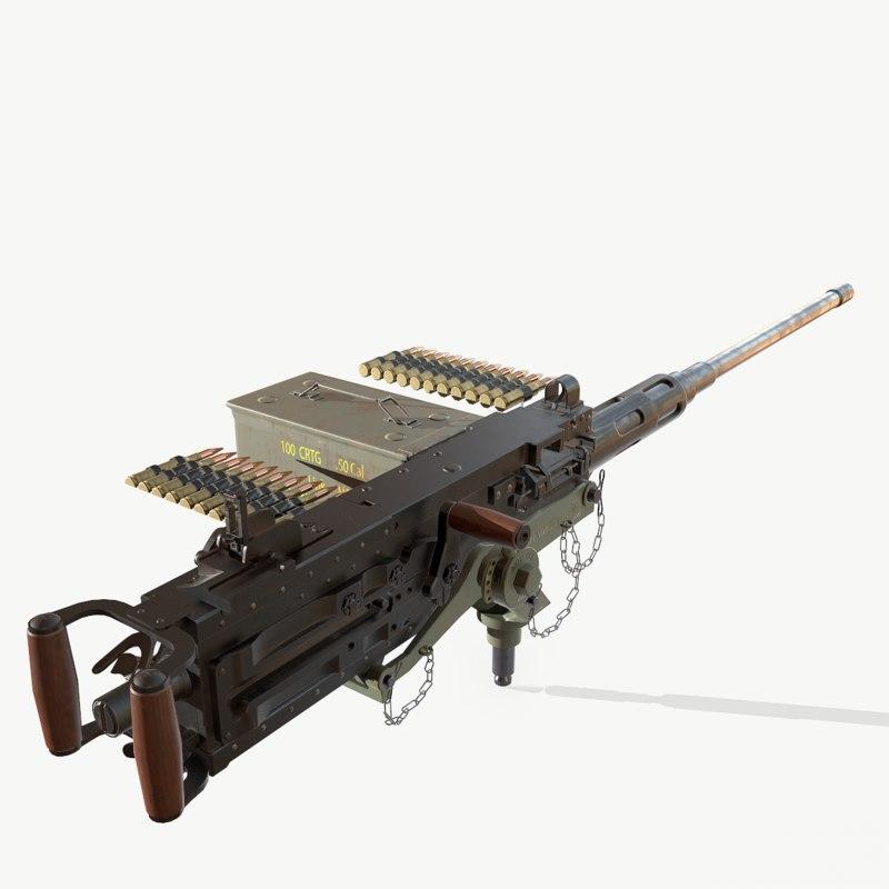 3d model of weapon pbr mk-23 mount