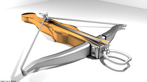 3d bow crossbow medieval model