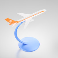 3d miniature jet desktop modeled airplane