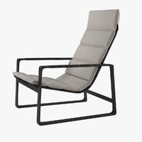 3d model lounge chair heron