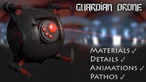 3d c4d guardian drone