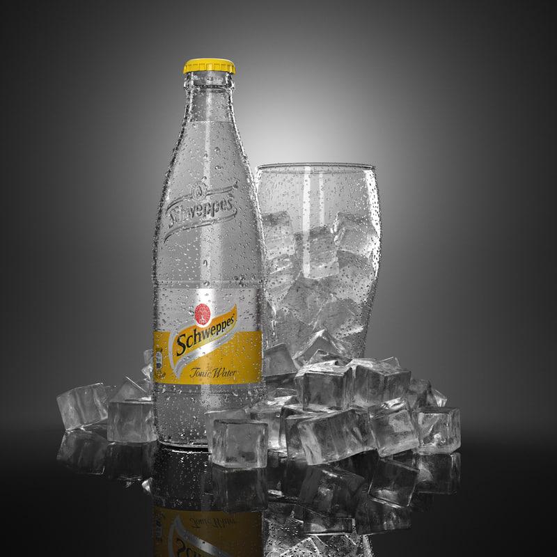 commercials water droplets 3d model