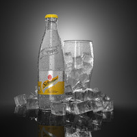 commercials water droplets 3d model