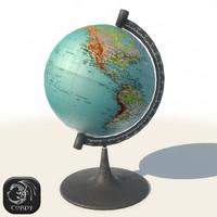 3d model globe modern