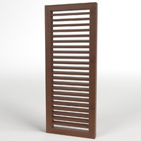 3d 3ds louver window blind