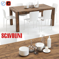 max scavolini agape chatty table chairs