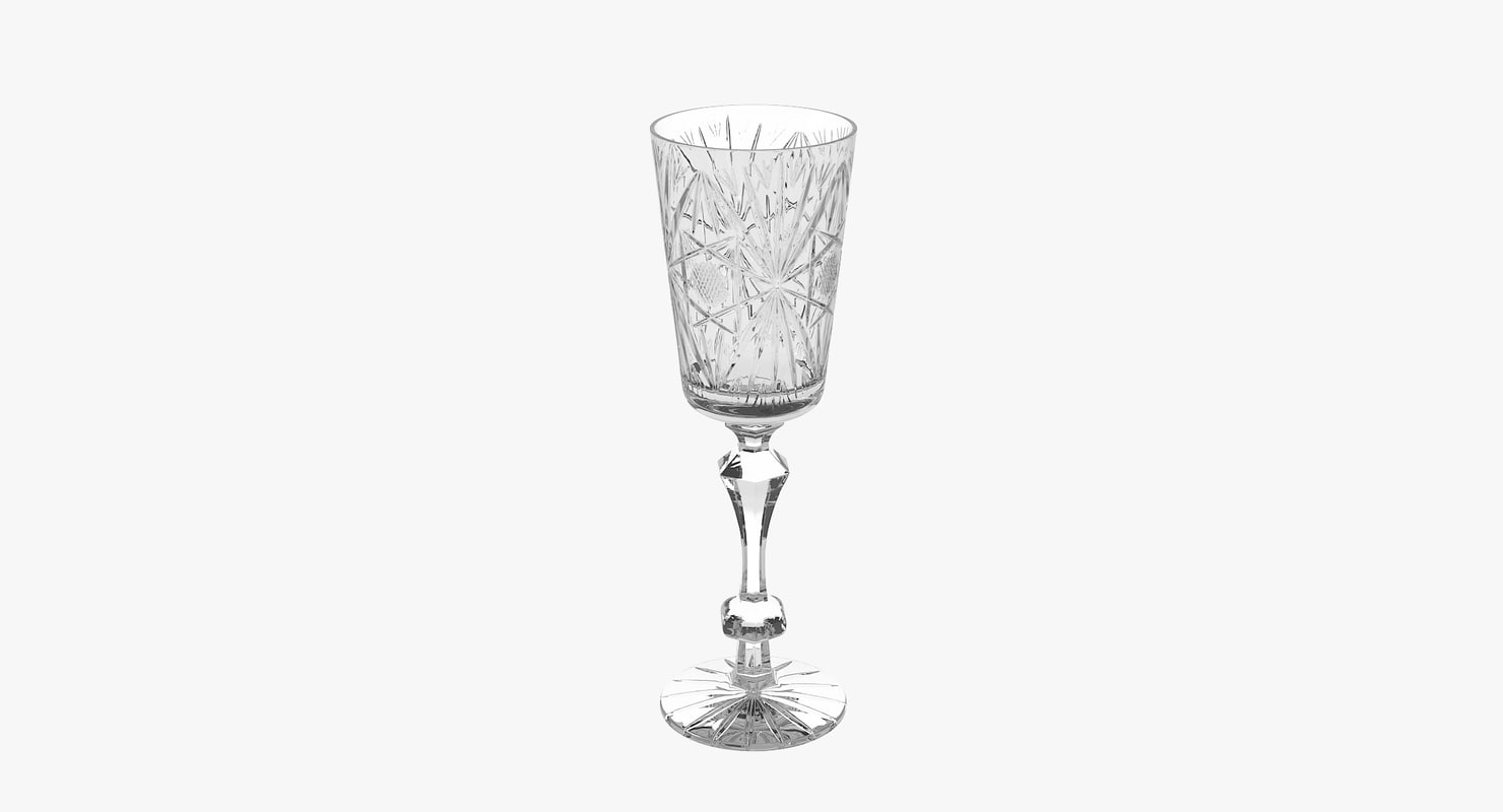 engraved crystal champagne flute max