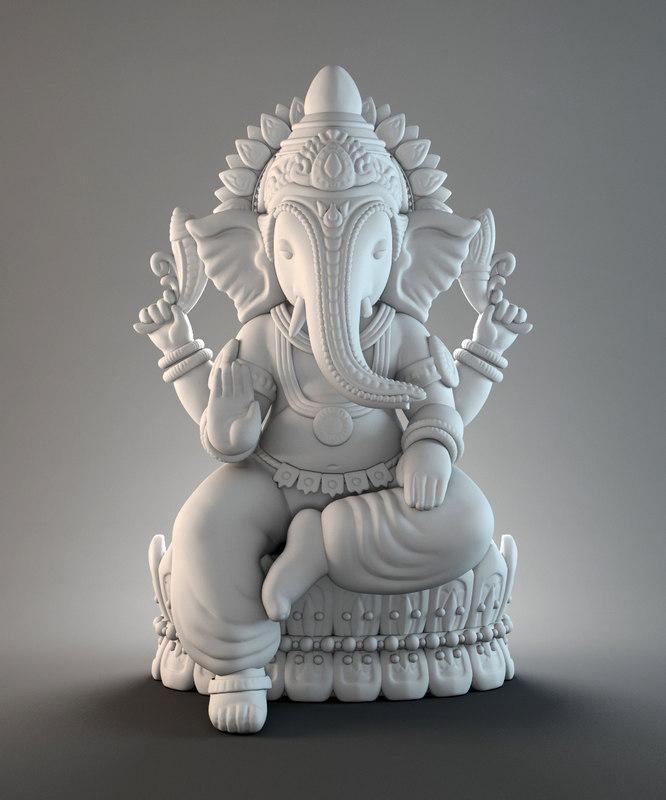 3d ganesh hindu model