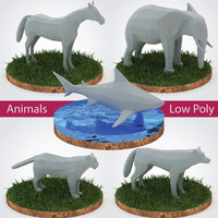 Animals Pack Low Poly - Vol. 1