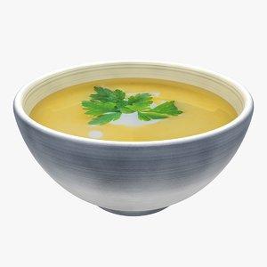 realistic soup 4 3d model
