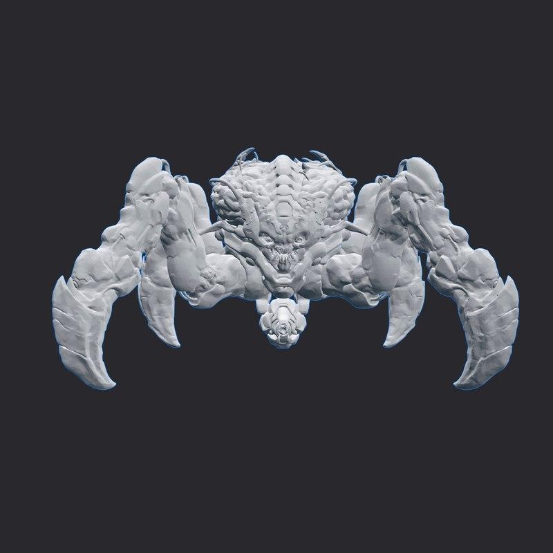 3d model spider mastermind doom
