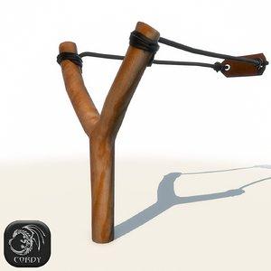 3ds realistic slingshot