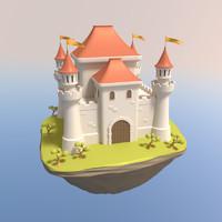 medieval castle 3d model
