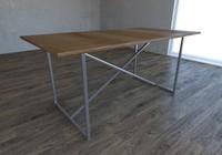 3d model table industrial vintage