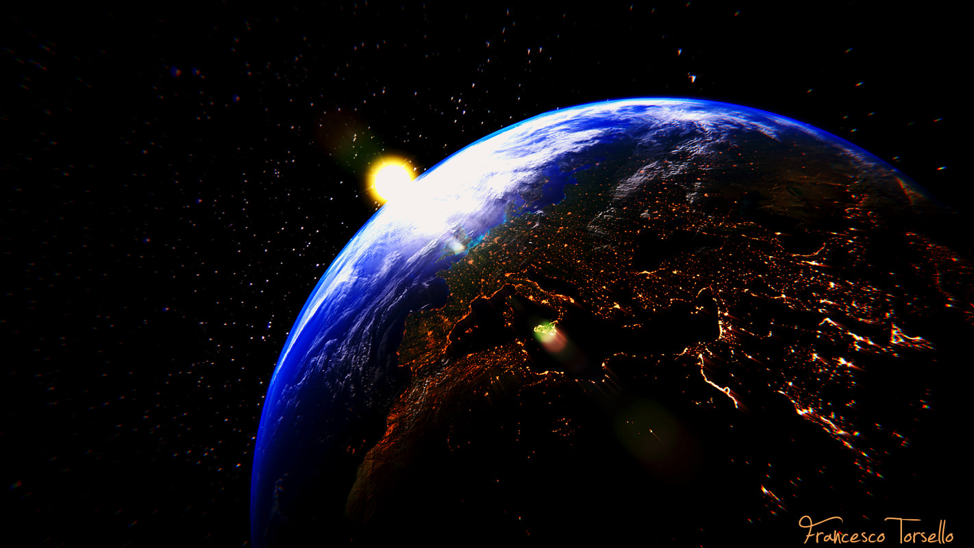 3d space earth
