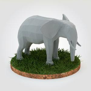 elephant base 3d model