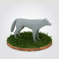 wolf dog 3d model