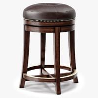 east india stool 3d model