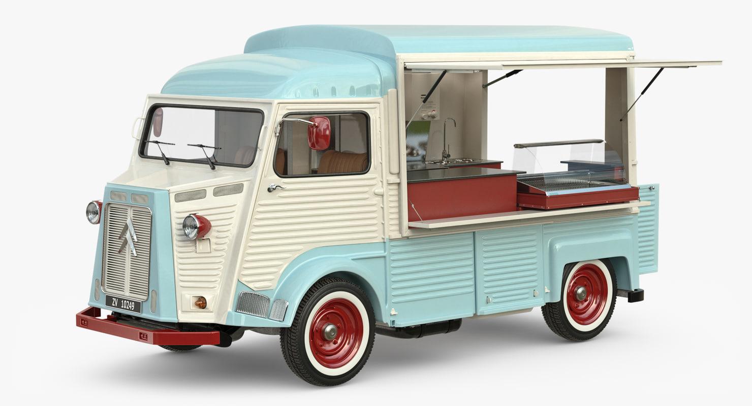 3d model of hy food truck