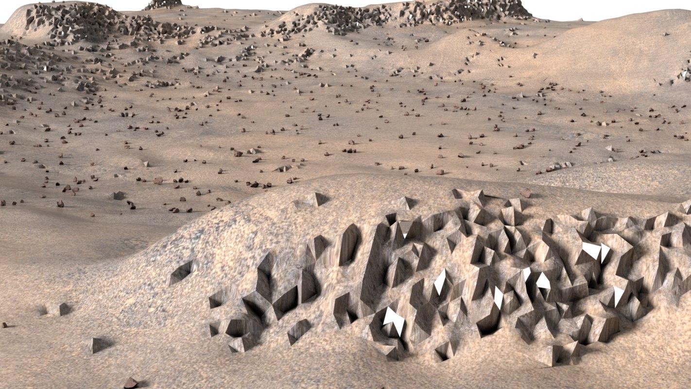 landscape rocky terrain 3d obj
