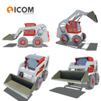 rigged compact vehicle 3d 3ds