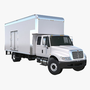moving truck 3d 3ds