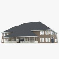 modern american story house 3d model