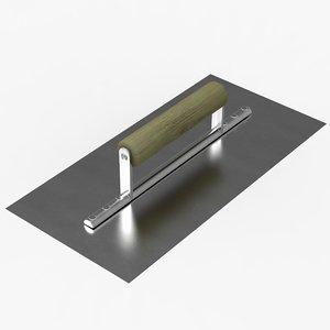 trowel wood metal 3d 3ds