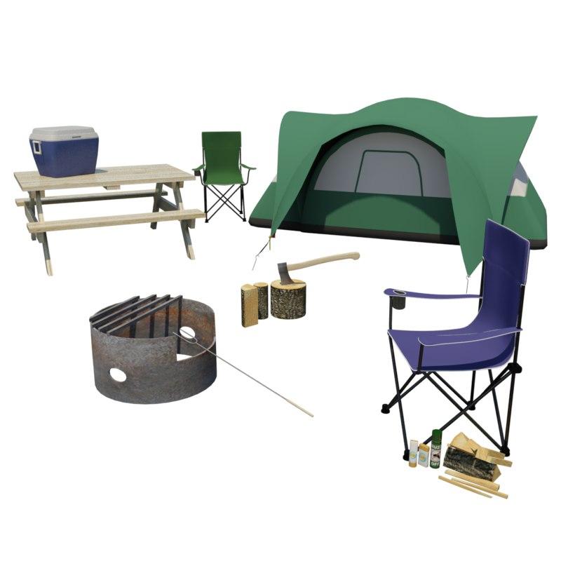 3d campsite model