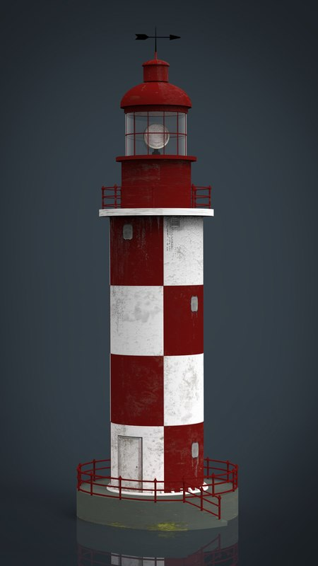 lighthouse 3d obj