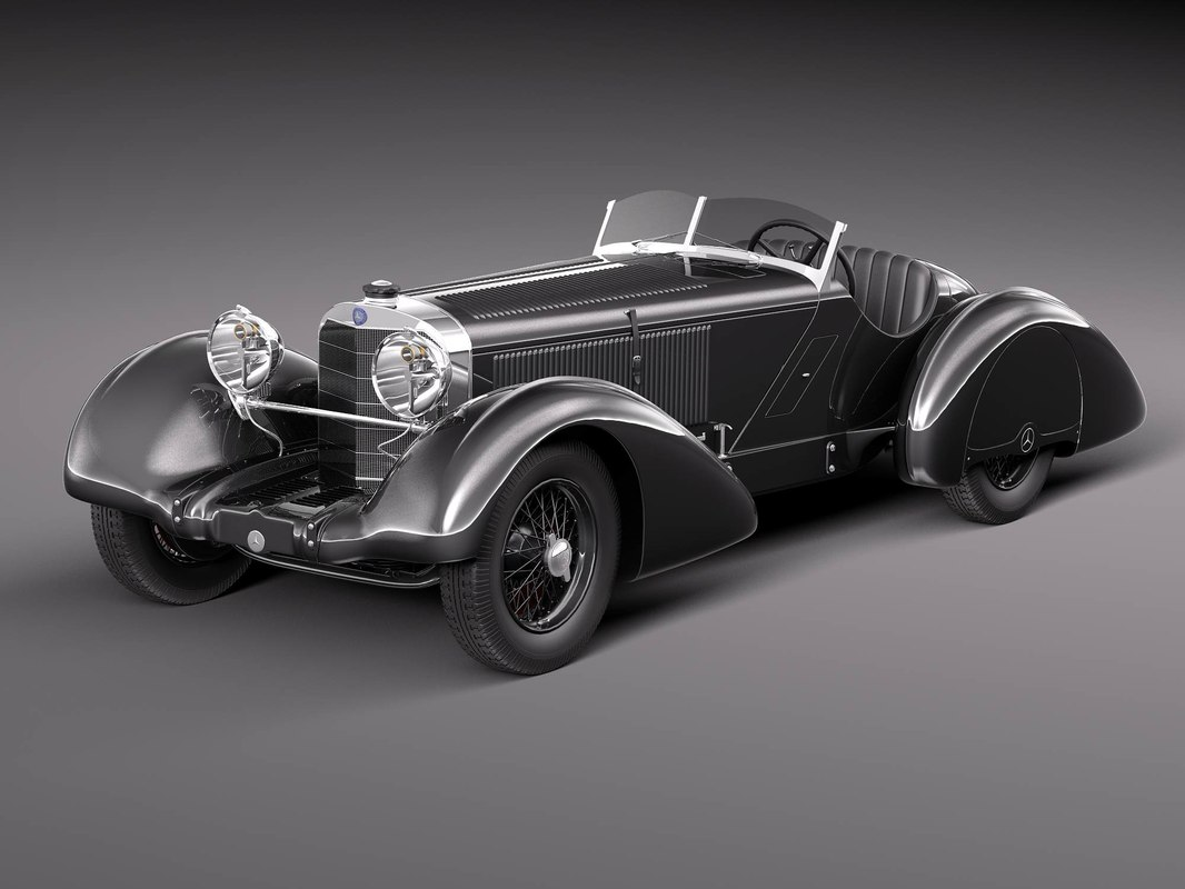 3d model mercedes-benz 710 ssk