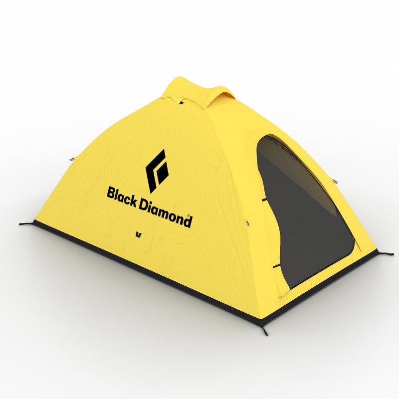 3d model of tent black diamond