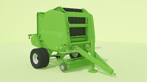 3d model bale baler machine