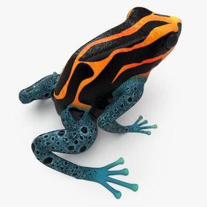 striped poison dart frog 3d model