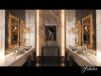3d max bathroom scene