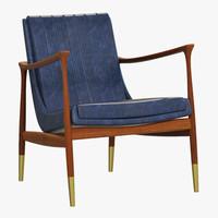 essential home hudson armchair 3d max