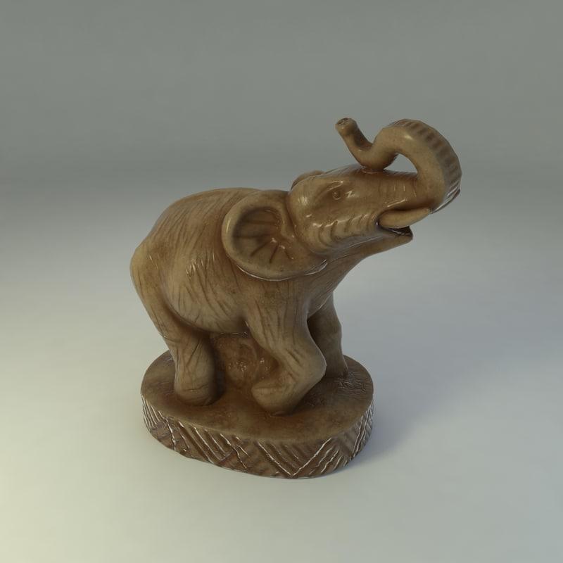 elephant statuette 3d model