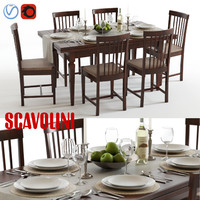 3d scavolini armony chairs table