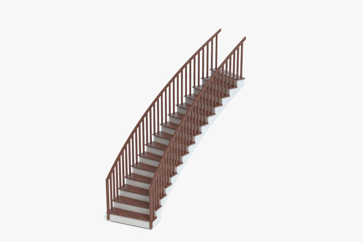 curved staircase 3ds