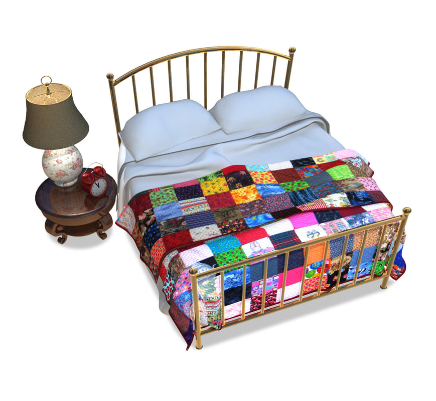3d stylized bed model