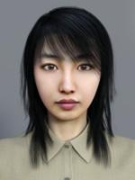 3d model asian office lady
