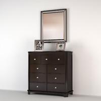 3d model dresser mirror