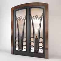 double doors art deco 3d model